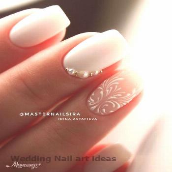 35 SIMPLE IDEAS FOR WEDDING NAILS DESIGN 1 35 SIMPLE IDEAS FOR WEDDING NAILS DESIGN 1