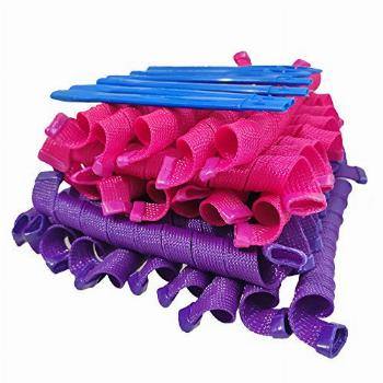 40 Pcs (55 cm/ 21.7 Inch)Curlers for long hair Heatless Wave
