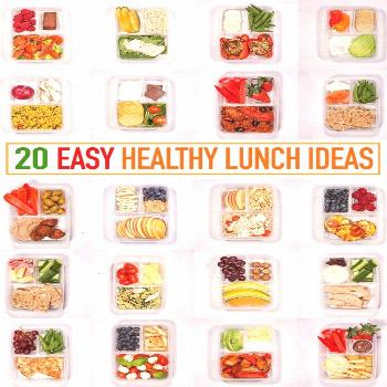 A whole month ofHealthy Lunch Ideas all in one place - These make ahead, healthy lunch ideas for