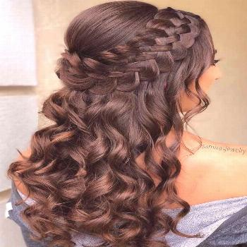 Braided Half Up Updo For Wavy Hair  ❤️Hairstyles for long hair are really popular right now. Se
