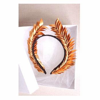 Diverse designs // Unique skills // Fine crafted gold leaf crown made from satin // New in store //
