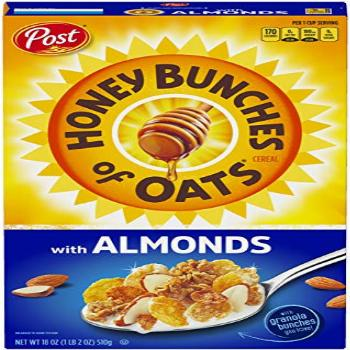 Honey Bunches of Oats with Almonds, Heart Healthy, Low Fat,