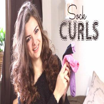 How to curl your hair with socks how to curl your hair,hair,how to,curl your hair with socks,curls,