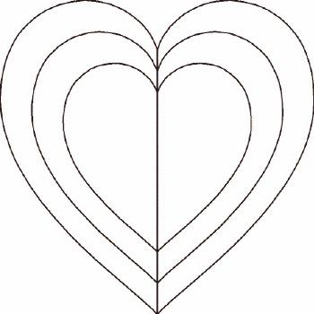 use this heart as an applique pattern, embroidery pattern or quilting pattern