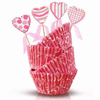 Valentine's Day Baking Cups and Toppers - Valentine's
