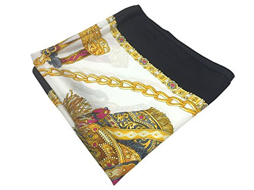YOUR SMILE Silk Like Scarf Womens Fashion Pattern Large